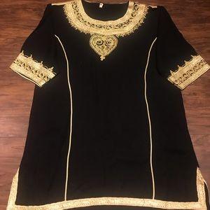 Moroccan style long sleeve shirt tunic